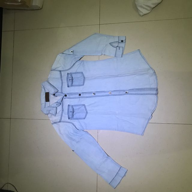 Denim Blouse ( All Sized, Fit To S-L)