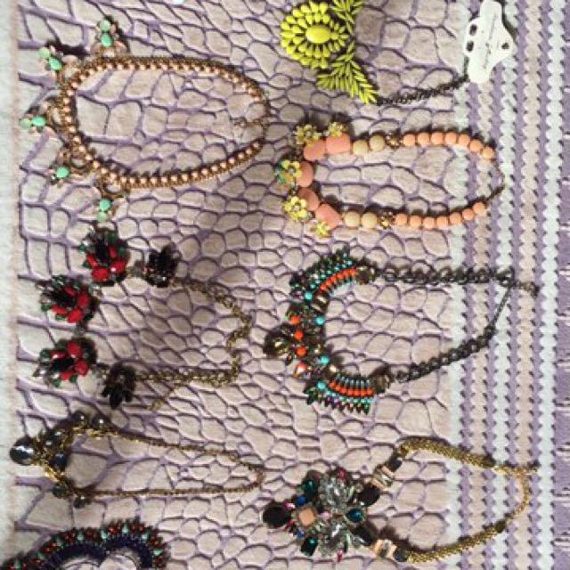 Diamanté And Gemstones Necklaces