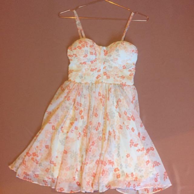 Dotti Orange Floral Dress