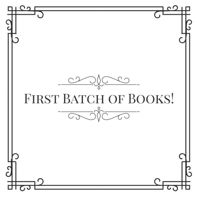 First Batch Of Books