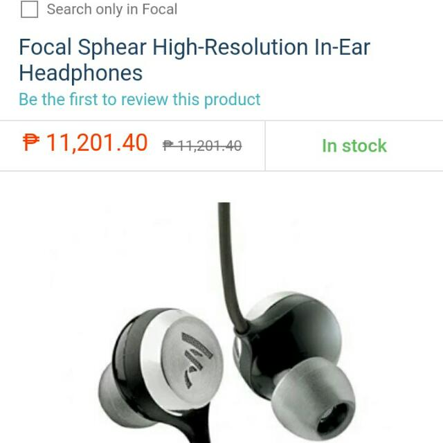 Focal Sphear High-Res Earphones