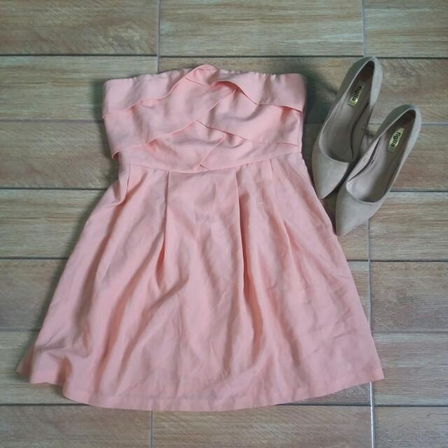 Forever21 Peach Tube Dress