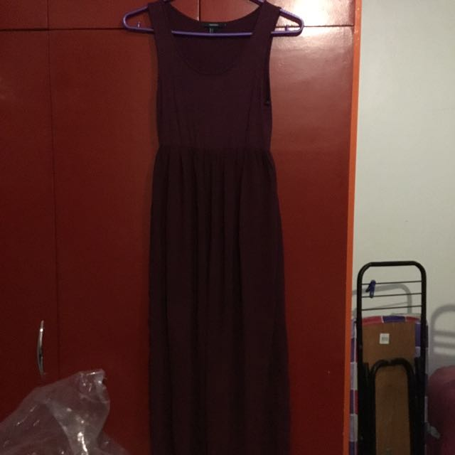 Forever 21 Maroon Long Dress
