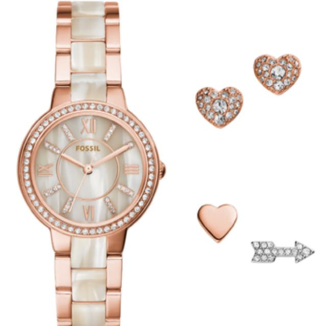 Fossil Women Rose Gold Tone Watch