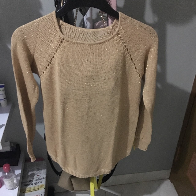Glittery Brown Knit
