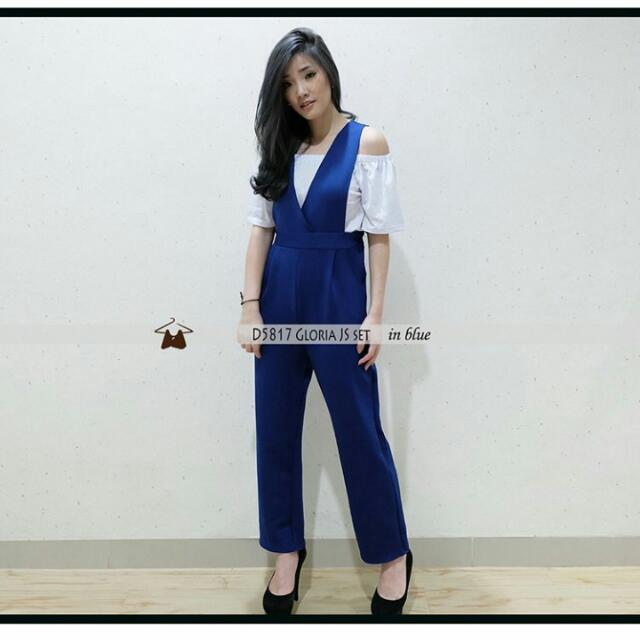 Gloria Jumpsuit In Blue