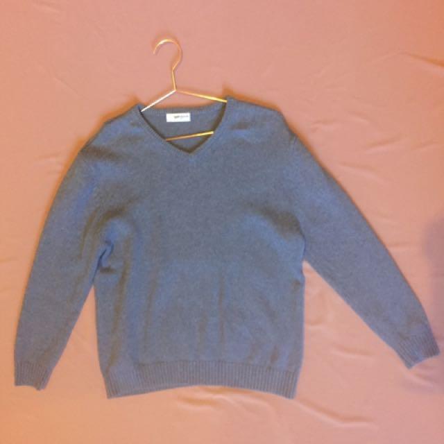 Grey Sweater V Neck