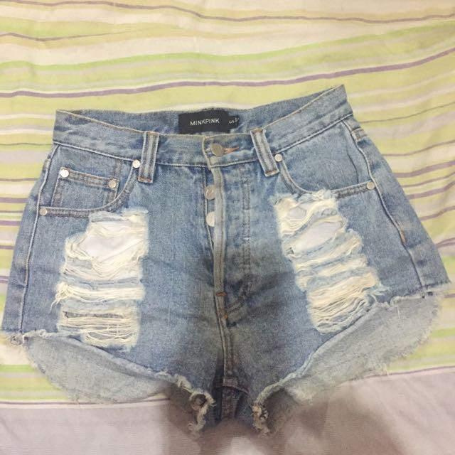 Highwaisted Tattered Shorts