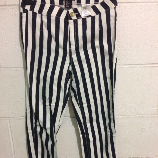 H&M stripes pants