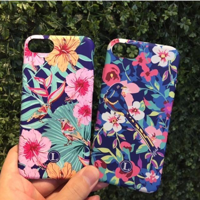 粉花鳥iphone7 plus 7+ 手機殼 保護殼 保護套 手機套 軟殼 全包軟殼
