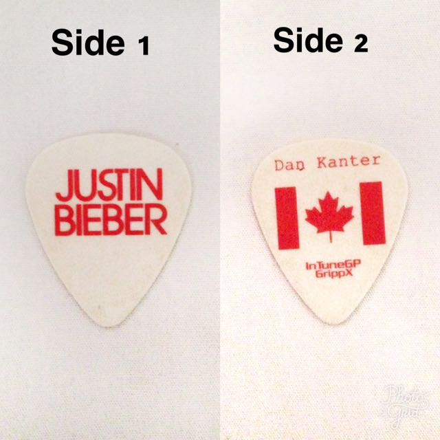 LIMITED EDITION Justin Bieber Believe Tour Guitar Pick
