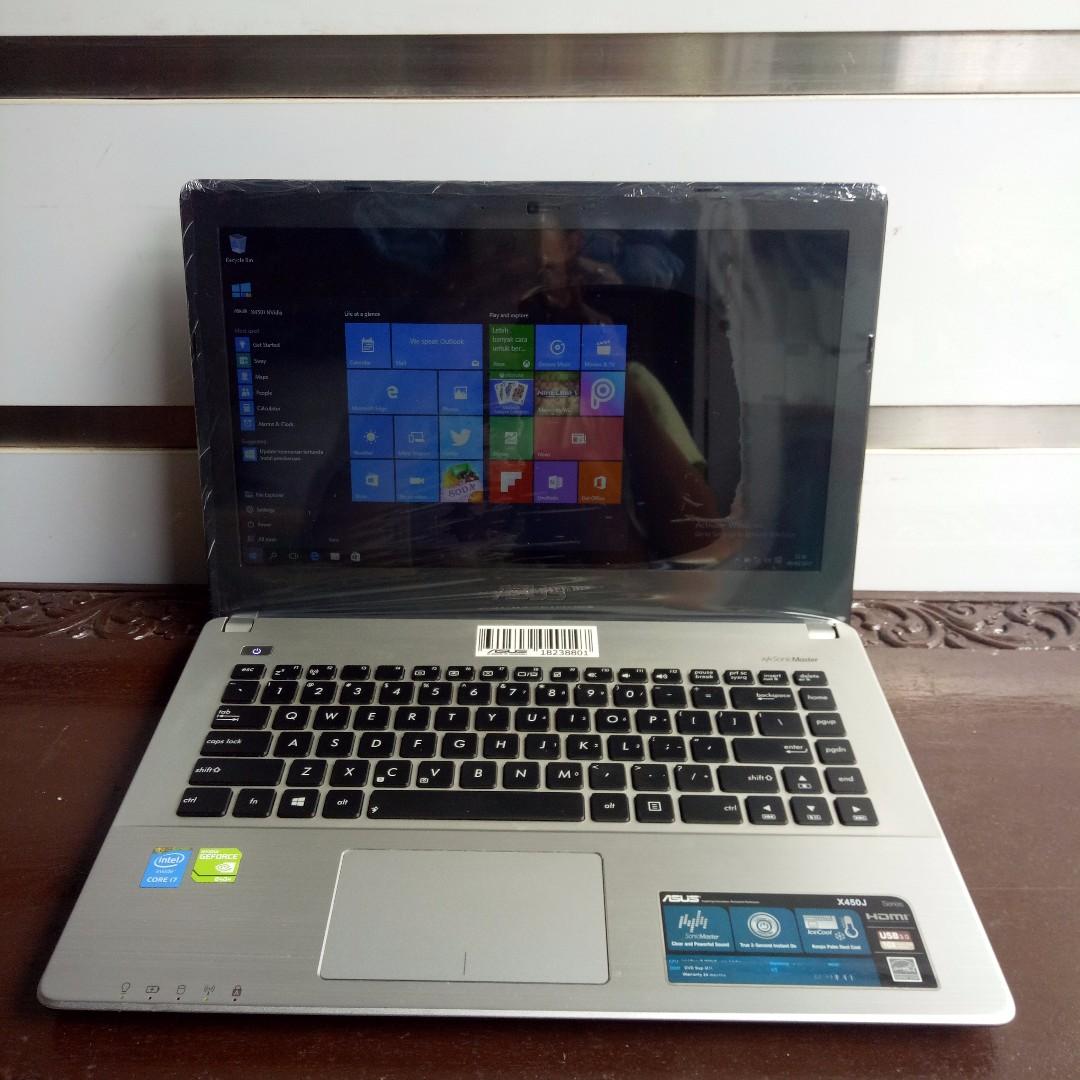 Laptop Slim Gaming Grafish ASUS X450JN Intel Corei7 Haswell NVidia 4GB