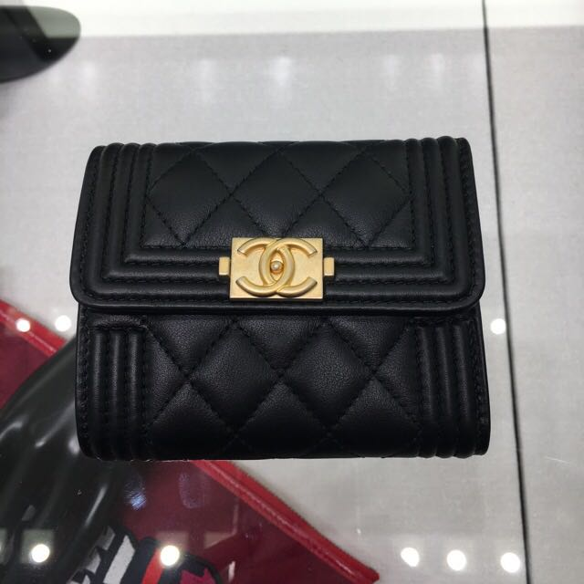 e92f0997ea336f NEW SIZE! Chanel Boy Small Wallet In Calf Leather, Luxury, Bags & Wallets  on Carousell
