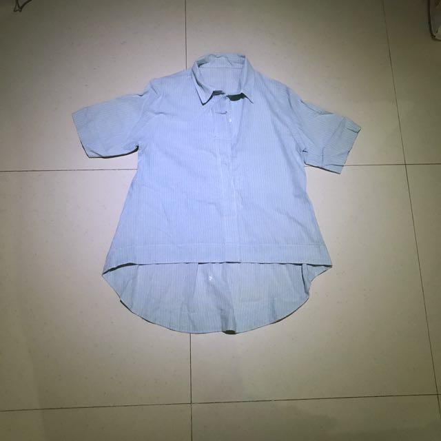 Light Blue Blouse + Collars