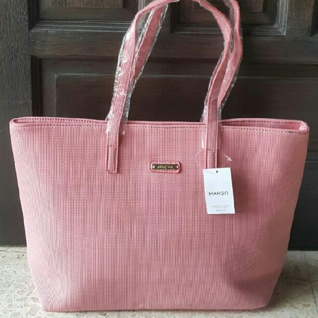 Mango pink tote bag