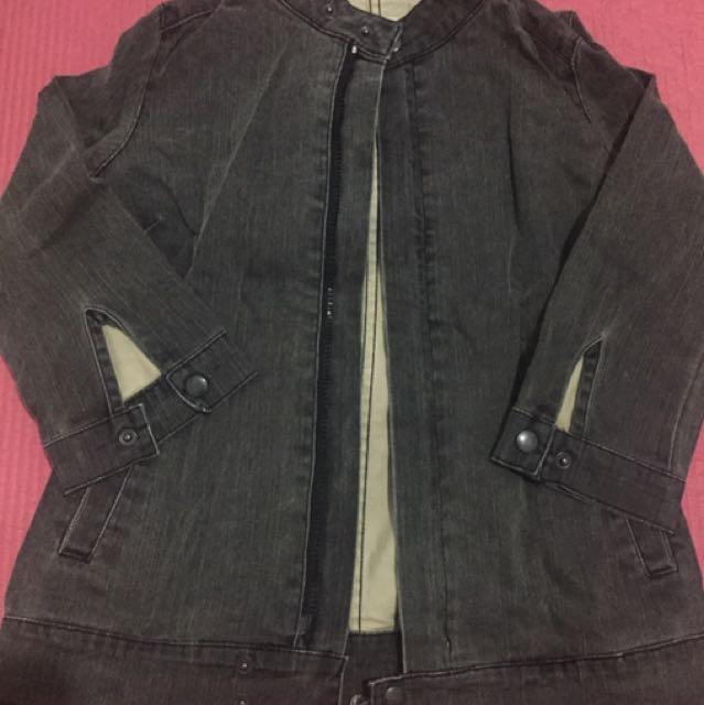 Maong Bomber Jacket