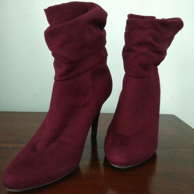 Maroon Boots - 10cm - size 39
