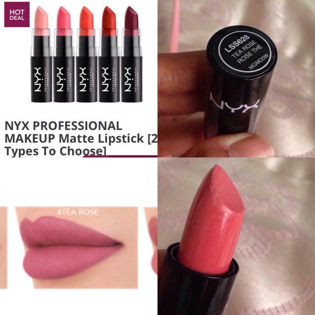 Nyx Professional Makeup Matte Lipstick Health Beauty Makeup On