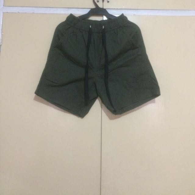 Olive Green Walking Shorts.