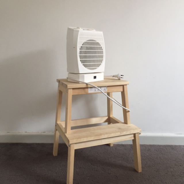Oscillator Fan Heater And Ikea Stool