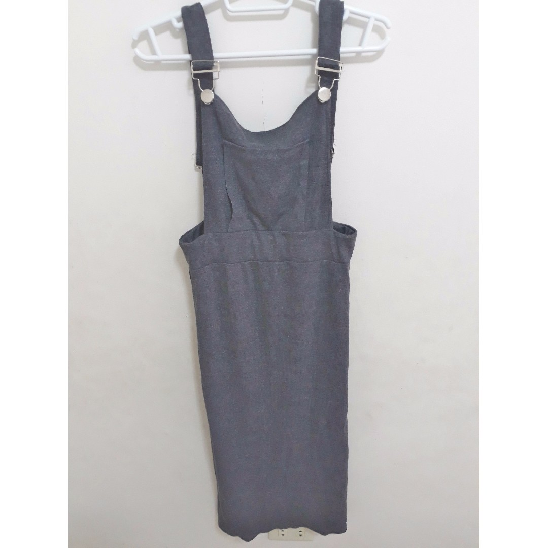 Overall Dress with Back Slit