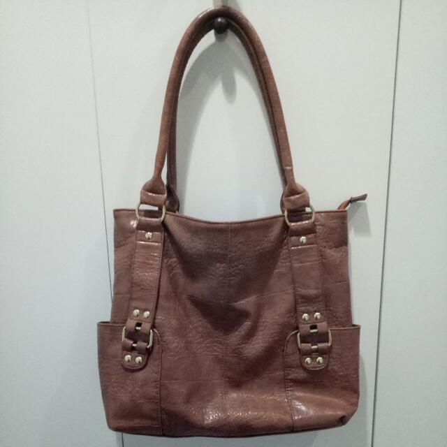 Payless Brown Tote Bag