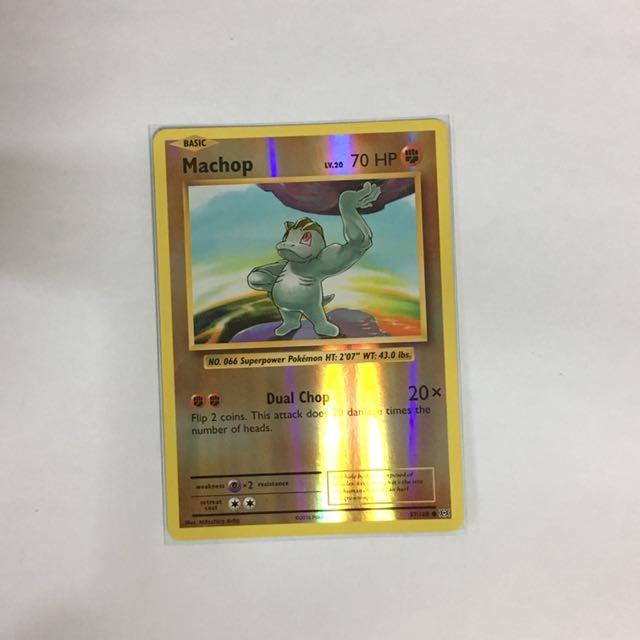 Pokemon Cards Evolution Machop Reverse Common, Toys & Games