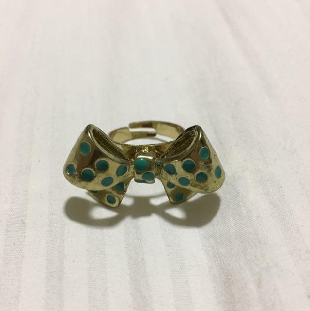 Polkadot Bow Ring