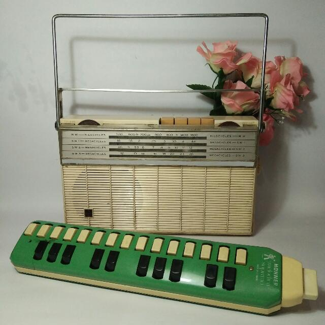 Radio Vintage National T-430 Putih Transistor Tahun 70an