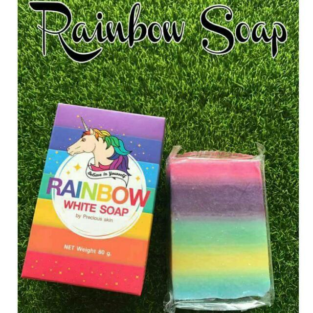 Rainbow White Soap