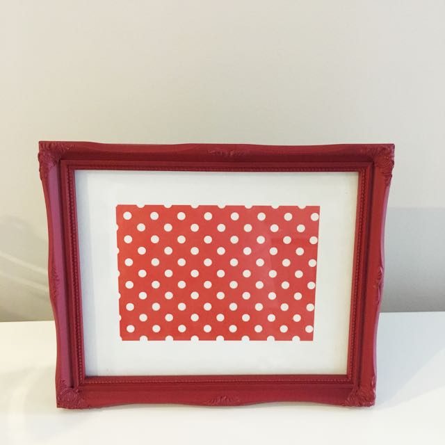Red Photo Frame (inclusive Of Postage)