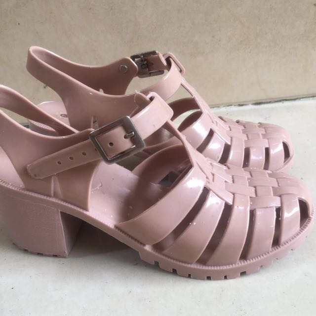 Rosegold Jelly Shoes