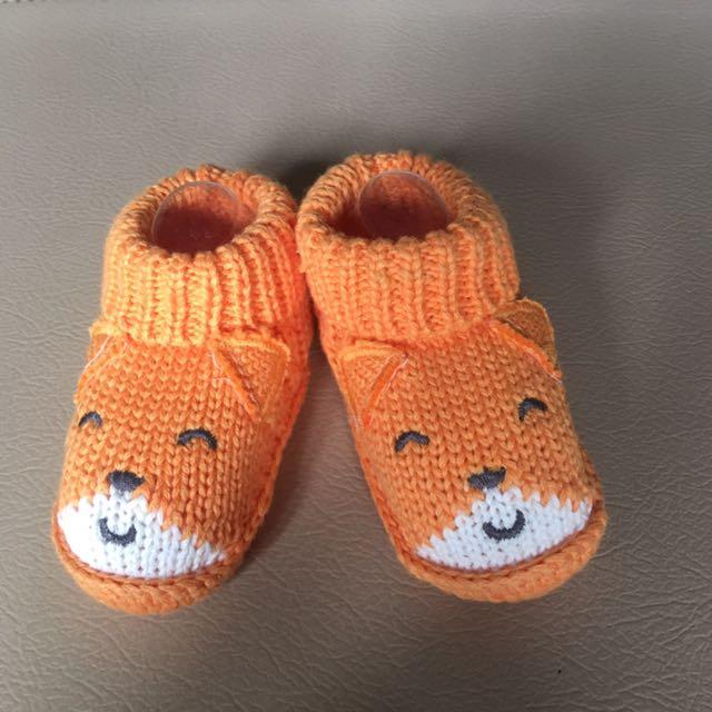 Sepatu Rajut Baby 0-3 Bulan Kaos Kaki Orange