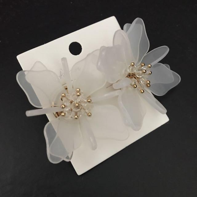 Statement Earrings Acrylic Flower
