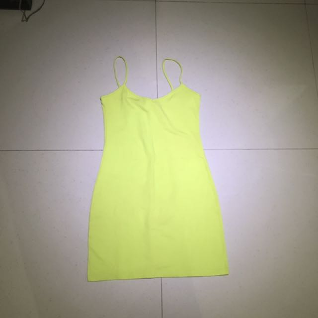 Supre   Yellow Stabillo Long Tank Size S