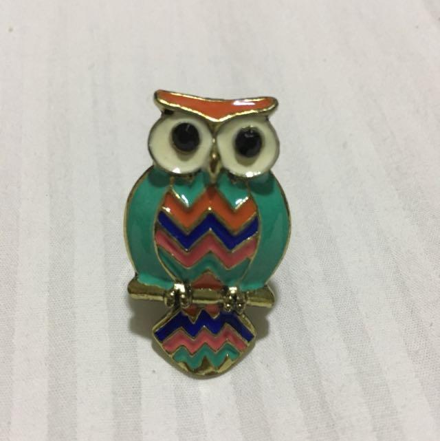 Teal Owl Ring