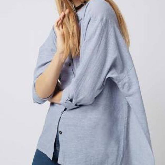 TOPSHOP Chambray Button Up