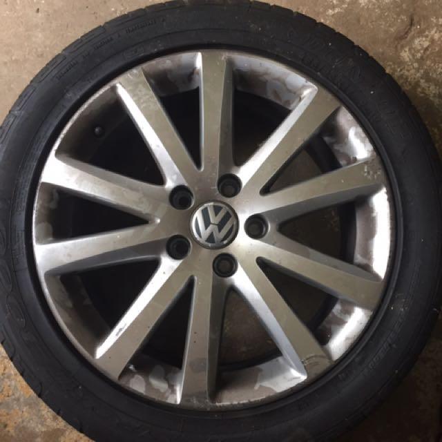"VW 17"" Wheels/tyres"