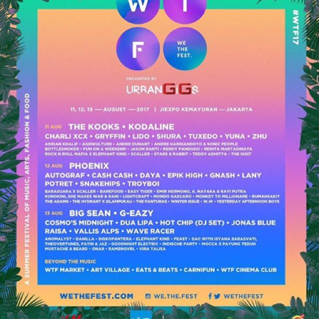 We The Fest 2017 - 2 Day Pass (11 & 13 August)