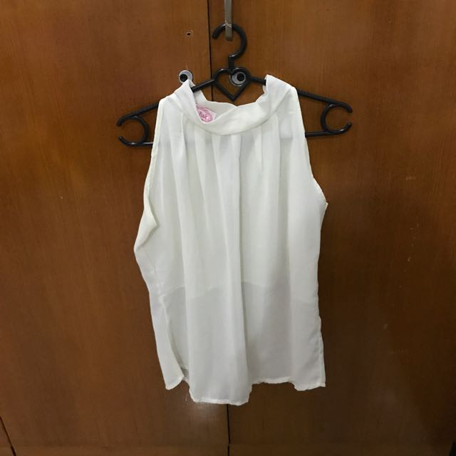 White Loose Tank ( All Size, Fit To S-L )