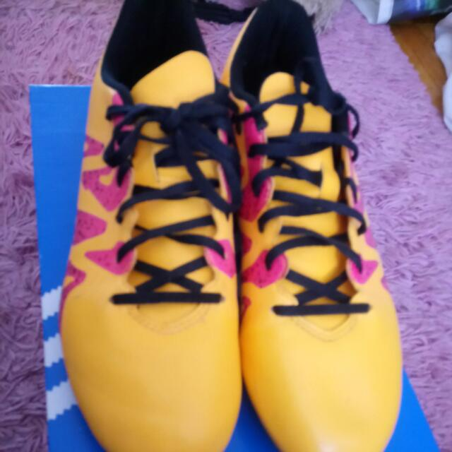 Women's Orange And Pink Adidas Cleats Size 6