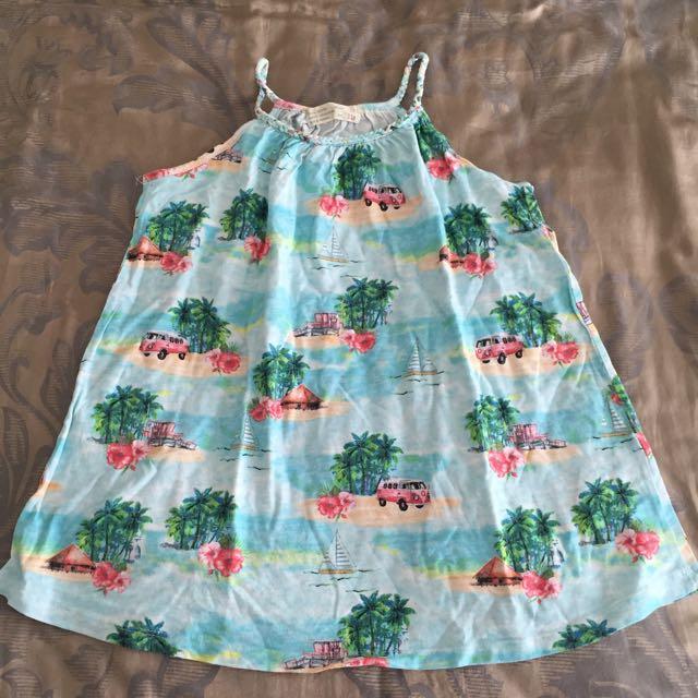 Zara Kids Tropical Dress Girl Baju Rok Anak Size 4-5y