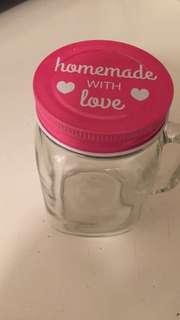 Brand new mason jar/mug and martini shaker with mix.