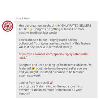 Featured For The 9th Time. Thank You Carousell ♡