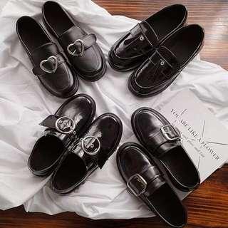 多款好穿👍復古英倫學院風金屬釦環方頭粗跟漆皮牛津鞋 樂福鞋 厚底鞋 皮鞋