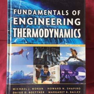 Fundamentals Of Engineering Thermodynamics (7th Edition)