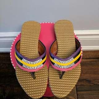 Colourful Rhinestone Sandals