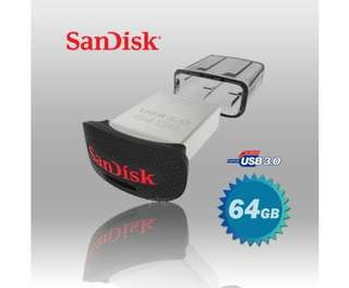 SanDisk CZ43 Ultra Fit USB 3.0 (SDCZ43-064G) 64GB USB Flash Drive