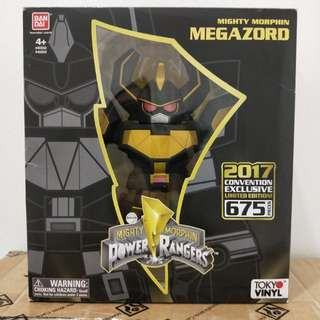 SDCC 2017 Tokyo Vinyl Black and Gold Megazord Limited Edition 675