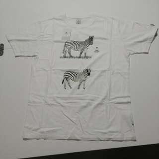 日本牌子 HEAD PORTER PLUS 動物系列白色圓領Tee Size L